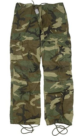 Girls Camo Vintage Paratrooper Fatigue Pants