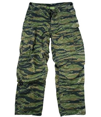 Vintage Vietnam Era Tiger Stripe Camo Military Fatigue Pant - Rip-Stop