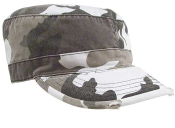 City Camo Vintage Military Fatigue Cap