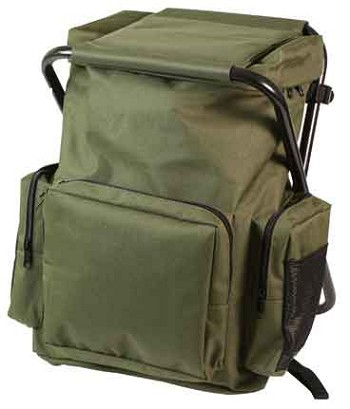 Olive Drab Combination Camp Stool and Backpack