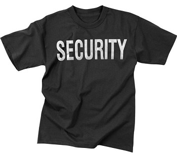 2-Sided Security T-Shirt with Reflective Print