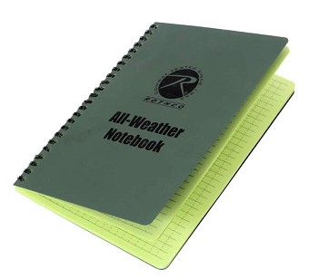 All Weather Waterproof Spiral Notebook