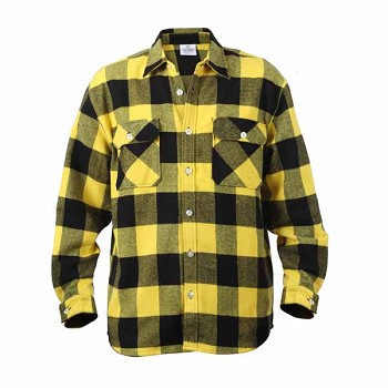 Heavy Weight Yellow Plaid Flannel Shirt