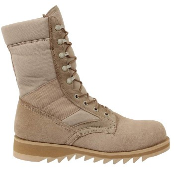Basic Issue G.I. Type Wave Sole Desert Tan Boots