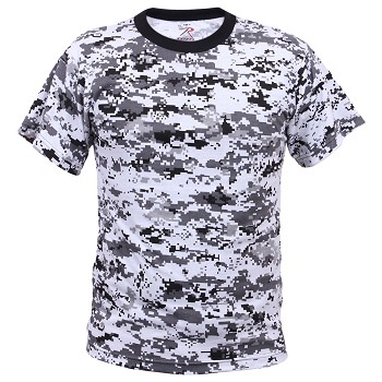 Digital City Camo Military T-Shirt