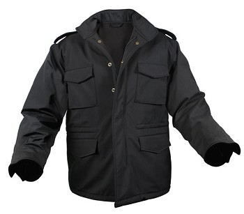 Black Soft-Shell M-65 Military Tactical Field Jacket