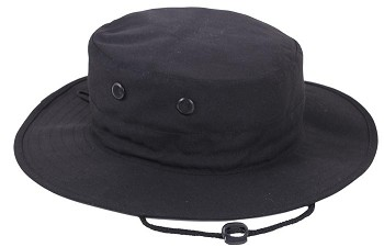 Basic Issue Adjustable Black Boonie Hat