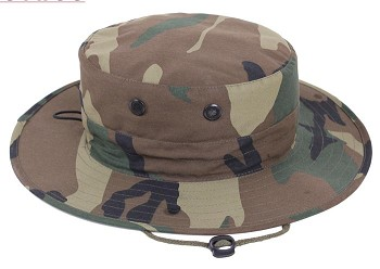 Basic Issue Adjustable Woodland Camo Boonie Hat