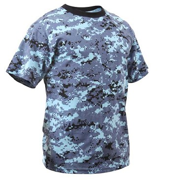 Sky Blue Digital Camo Kids T-shirt