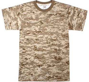 Desert Digital Camo Military T-shirt