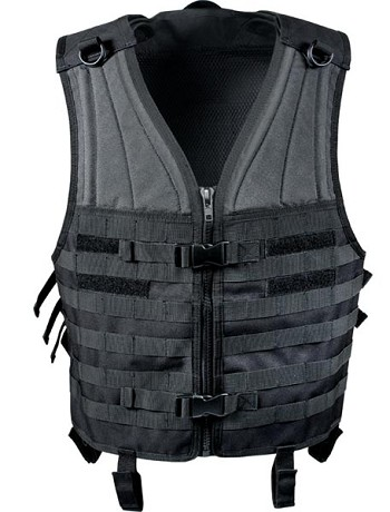 Black MOLLE Modular Tactical Vest