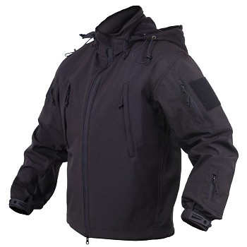 Black Concealed Carry Soft Shell Jacket