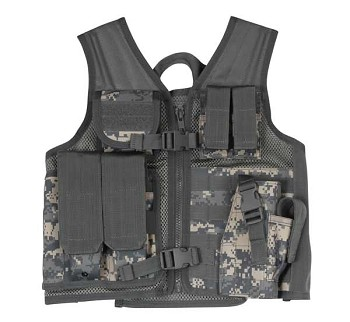 Kids ACU Camo Cross Draw Tactical Vest