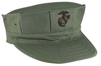 Olive Drab Marine Corps Logo 8 Point Fatigue Hat
