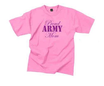 Pink Proud Army Mom T-Shirt