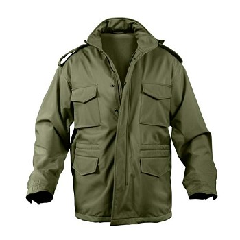Olive Drab Soft Shell M-65 Military Field Jacket