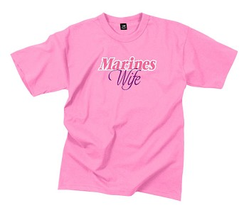 Pink 'Marines Wife' USMC Short Sleeve Shirt