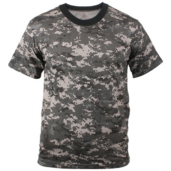 Subdued Urban Digital Camo Military T-shirt