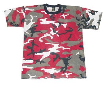 Red Camo Military T-shirt
