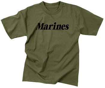 US Marine Corps Olive Drab Physical Training T-shirt