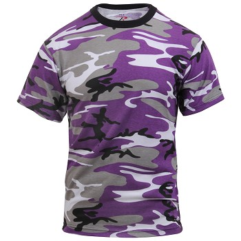 Ultra Violet Camo Military T-shirt