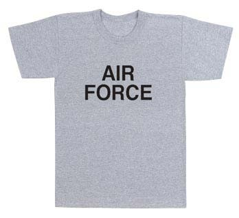 US Air Force Grey Physical Training T-shirt