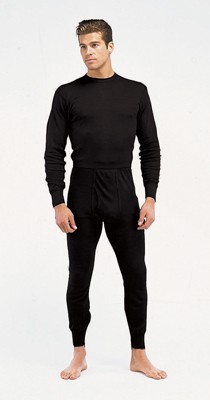 Basic Issue Polypropylene Black Thermal Underwear Top