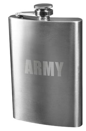 Army Engraved Flask