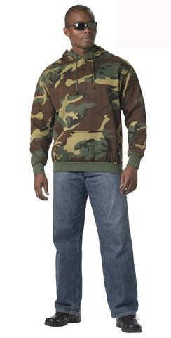 Woodland Camo Pullover Hoodie
