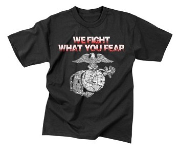 We Fight What you Fear Globe and Anchor T-Shirt