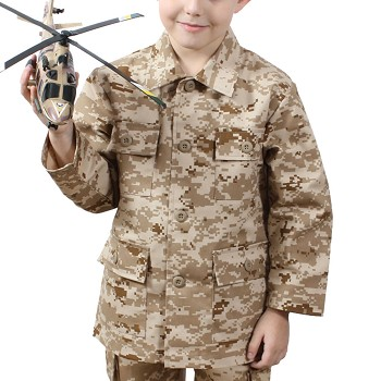 Kids Desert Digital Camo Military BDU Fatigue Shirt