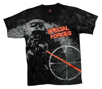 Vintage Special Forces Black T-Shirt