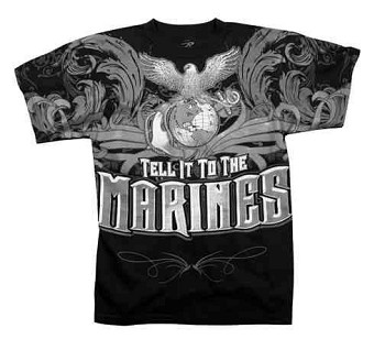 Tell It To The Marines Black Vintage T-Shirt
