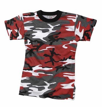 Kids Red Camouflage T-Shirt