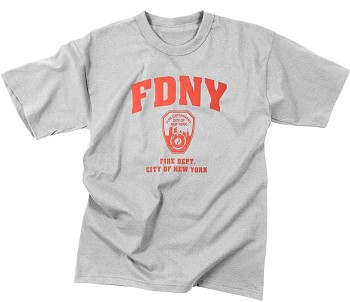 Grey FDNY Physical Training T-Shirt