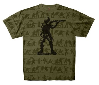 Vintage Soldier Camo T-shirt with Soldier Silhouette
