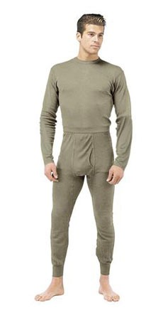 Gen III Silk Weight Thermal Underwear Shirt - Foliage Green