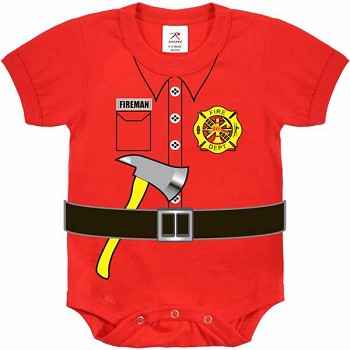 Red Fireman Infant Onesy