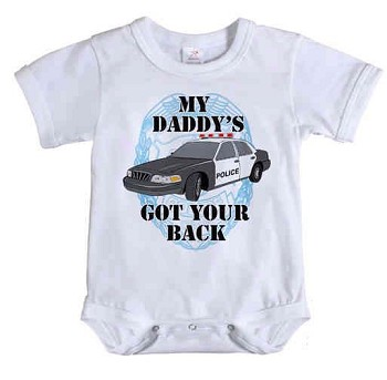 Infant My Daddy's Got Your Back Police One Piece