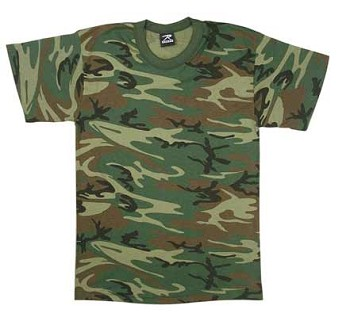 Woodland Camo T-shirt Made in USA