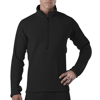 Basic Issue Gen III Military Black Thermal Zip Top