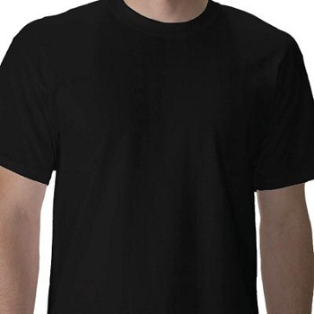 Black Cotton Military T-shirt