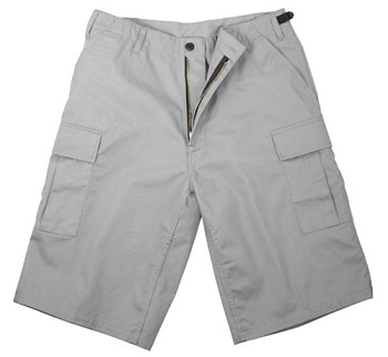 Gray Military Style BDU Long Shorts