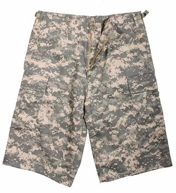 Extra Long ACU Digital Camouflage Shorts