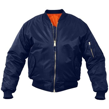 Navy Blue MA-1 Flight Jacket