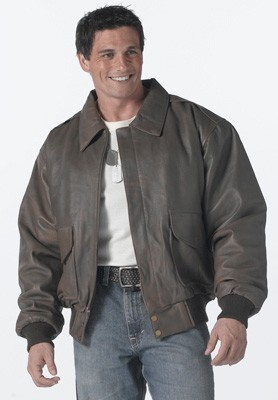 Classic Brown Leather Flight Jacket