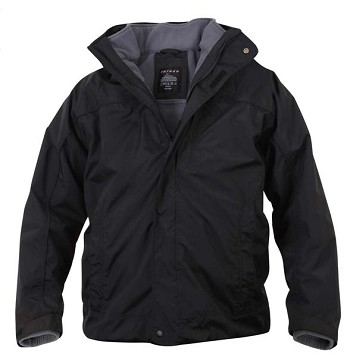 Black 3-in-1 Waterproof  Winter Jacket