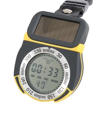 Solar Powered Multi-Function Digital Compass