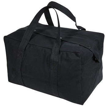 Black Canvas Carry-on Duffle Bag