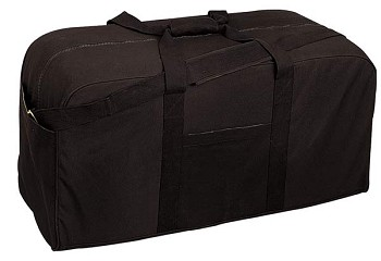 34 Inch Canvas Cargo Duffle Bag - Black or Olive